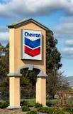 Muestra de la gasolinera de Chevron Fotografía de archivo