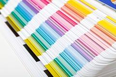 Muestra de la guía del color, primer Imagenes de archivo