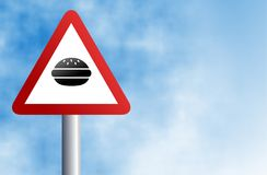 Muestra de la hamburguesa Foto de archivo