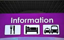 Muestra de la información, tienda, restaurante Fotografía de archivo