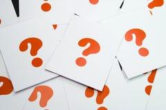 Muestra de la interrogación Imagen de archivo libre de regalías