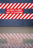 Muestra de la inundación Fotografía de archivo libre de regalías