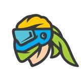 Muestra de la máscara de Paintball stock de ilustración