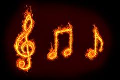 Muestra de la música Imágenes de archivo libres de regalías