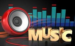 muestra de la música del altavoz 3d Fotografía de archivo