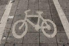 Muestra de la manera de la bici Imagen de archivo libre de regalías