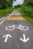 Muestra de la manera de la bicicleta Foto de archivo