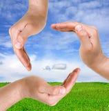 Muestra de la mano Imagen de archivo libre de regalías