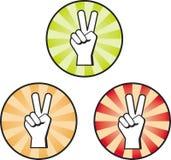 Muestra de la mano de la paz Imagen de archivo libre de regalías
