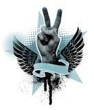 Muestra de la mano de la paz ilustración del vector