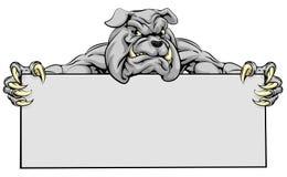 Muestra de la mascota de los deportes del dogo Fotos de archivo libres de regalías