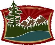 Muestra de la montaña/muestra ilustración del vector