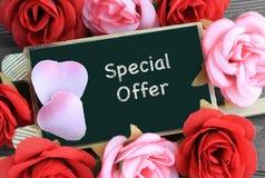 Muestra de la oferta especial Fotos de archivo libres de regalías