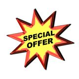 Muestra de la oferta especial Imágenes de archivo libres de regalías