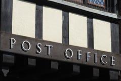 Muestra de la oficina de correos. Arundel. Sussex. Reino Unido Fotografía de archivo libre de regalías