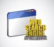 Muestra de la optimización del Search Engine del web del navegador stock de ilustración