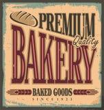 Muestra de la panadería del vintage Fotos de archivo