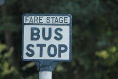 Muestra de la parada de autobús Foto de archivo libre de regalías