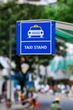 Muestra de la parada de taxis Foto de archivo libre de regalías