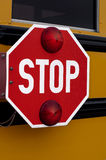 Muestra de la parada del autobús escolar Imagen de archivo