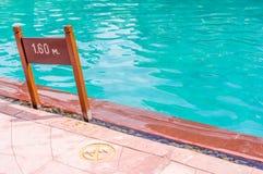 Muestra de la piscina Imágenes de archivo libres de regalías