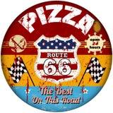 Muestra de la pizzería de Route 66 ilustración del vector