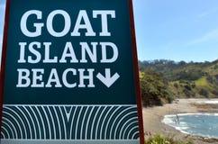 Muestra de la playa de la isla de la cabra Fotos de archivo libres de regalías
