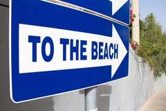 Muestra de la playa del metal - a la playa Imagenes de archivo