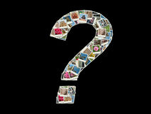 Muestra de la pregunta - collage de las fotos del recorrido Imagen de archivo