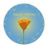Muestra de la primavera o ejemplo del vector del emblema Fotos de archivo