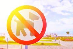 Muestra de la prohibición del perro fotografía de archivo libre de regalías