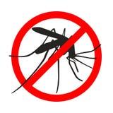 Muestra de la prohibición ningunos mosquitos ilustración del vector