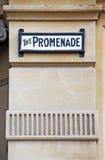Muestra de la 'promenade' Foto de archivo libre de regalías