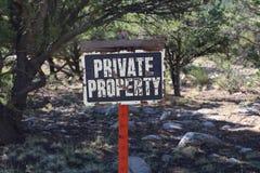 Muestra de la propiedad privada Fotografía de archivo