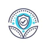 Muestra de la protección del vector del icono del premio de la seguridad o de la protección stock de ilustración