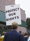 Muestra de la protesta Fotos de archivo