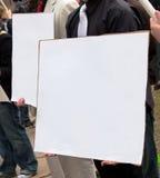 Muestra de la protesta, en blanco Imagenes de archivo