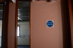 Muestra de la puerta cortafuego fotografía de archivo libre de regalías