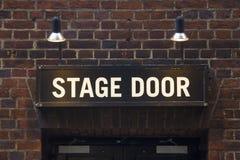 Muestra de la puerta de etapa Fotos de archivo
