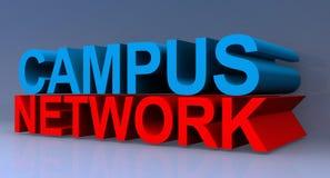 muestra de la red del campus 3D ilustración del vector