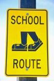 Muestra de la ruta de la escuela Foto de archivo libre de regalías