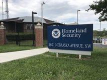 Muestra de la seguridad de patria de Estados Unidos imagen de archivo