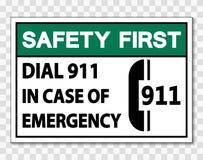 muestra de la seguridad primero del símbolo en caso de urgencia en fondo transparente libre illustration