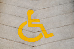 Muestra de la silla de rueda Fotos de archivo libres de regalías