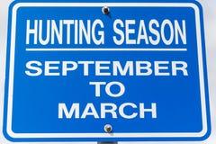 Muestra de la temporada de caza Foto de archivo libre de regalías