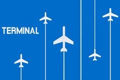 Muestra de la terminal de aeropuerto Imágenes de archivo libres de regalías