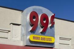 muestra de la tienda 99¢ Fotografía de archivo