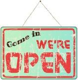 Muestra de la tienda abierta Imagen de archivo libre de regalías
