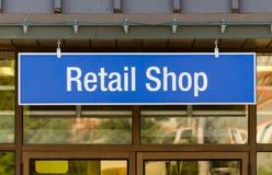 Muestra de la tienda al por menor Fotografía de archivo libre de regalías