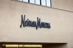 Muestra de la tienda al por menor de Neiman Marcus imagen de archivo libre de regalías